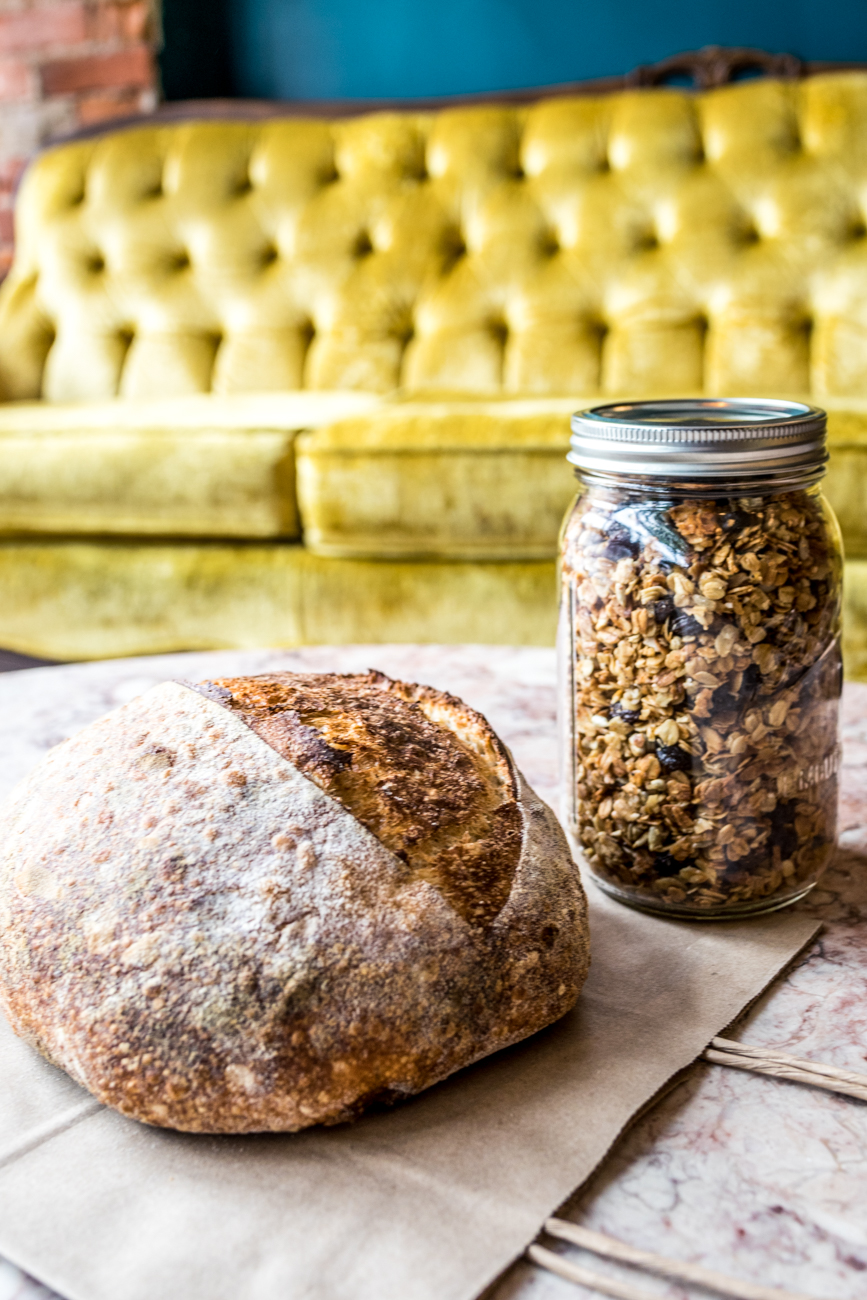 Sourdough and house granola / Image: Catherine Viox{ }// Published: 6.23.20