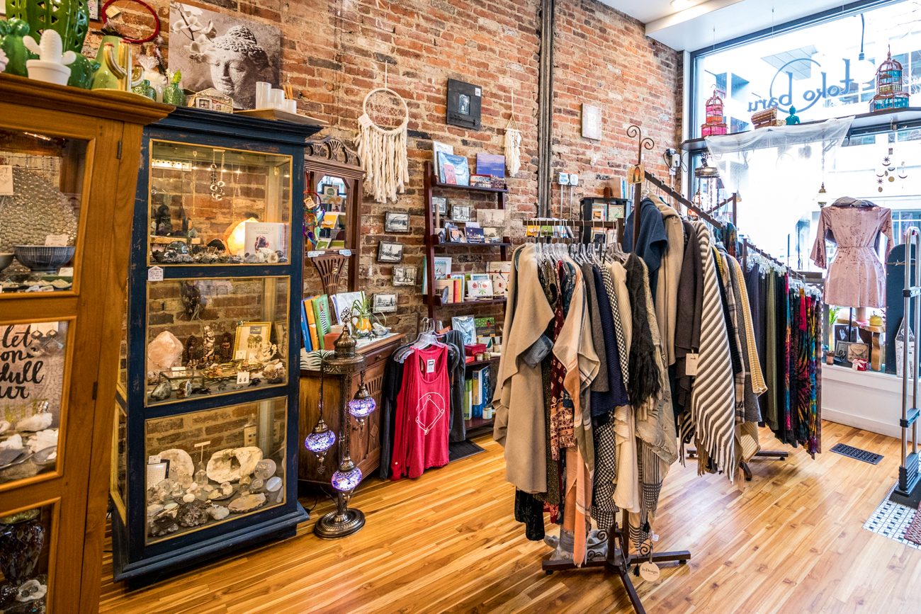 SHOP: Toko Baru OTR / ADDRESS: 1321 Vine Street (45202) /{ }Toko Baru mainly sells gifts, children's clothing, jewelry, and some clothing items. / Image: Catherine Viox // Published: 3.12.20
