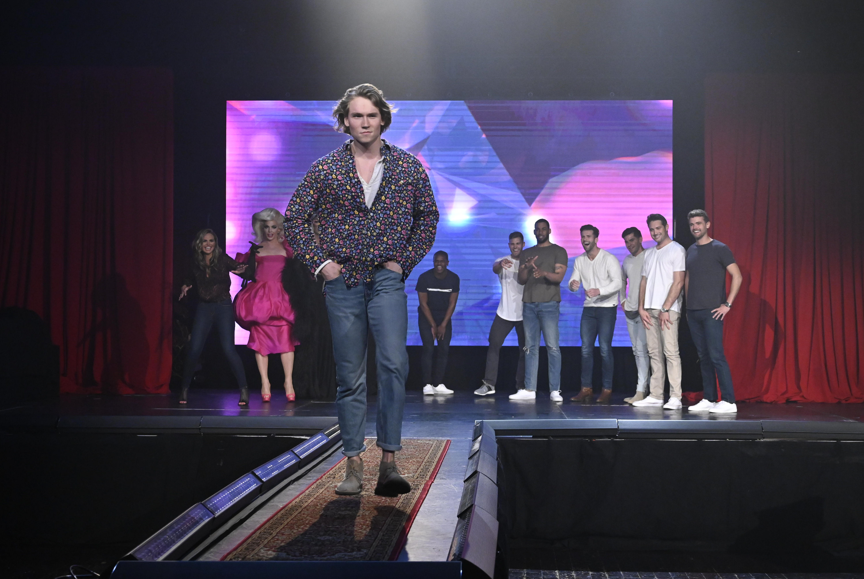 And we have to say... neither of them look super comfortable on the runway from these sneak peeks! (Image: John Fleenor/ ABC)