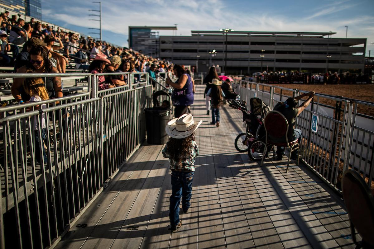 Fans gather to watch day one of the Las Vegas Days Rodeo at the Plaza Hotel CORE Arena on Friday May 10, 2019. Las Vegas Days, formerly known as Helldorado Days, is an annual cowboy-themed event celebrating Las Vegas' tribute to the Wild West. CREDIT: Joe Buglewicz/Las Vegas News Bureau