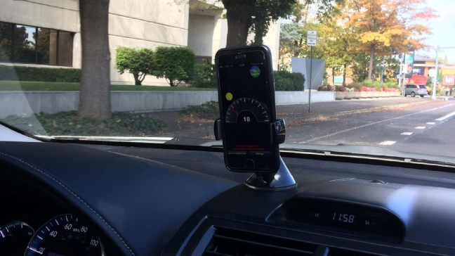 Smart phone app + driving = safety? 'Trying to figure out if that really is the case'
