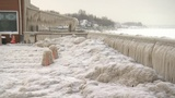 Photos: 0° lows leave New York park along Lake Erie coated in ice