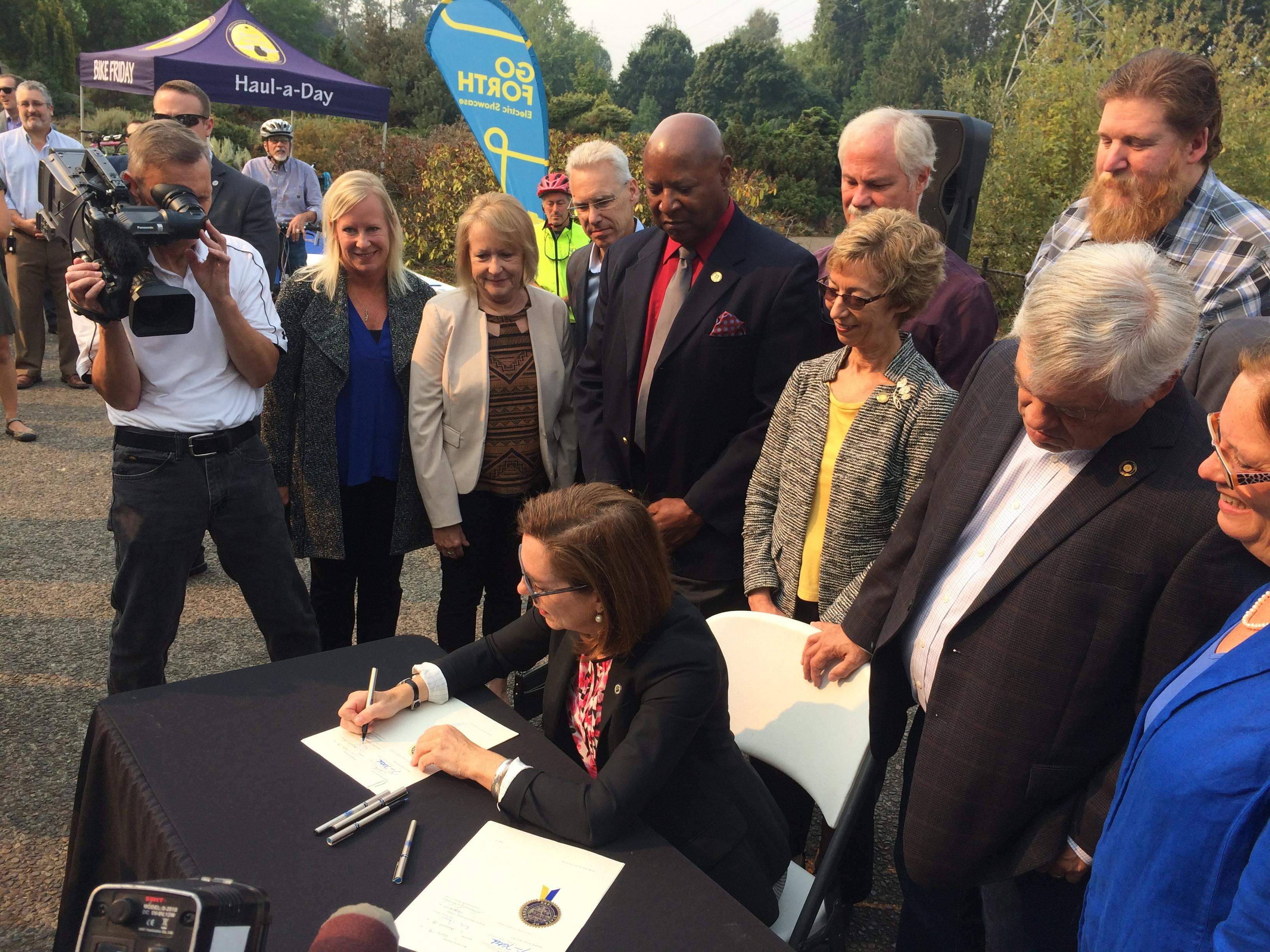 Governor Kate Brown signed in a Transportation bill on Tuesday that will allocate $8 million towards improvements around Lane County.