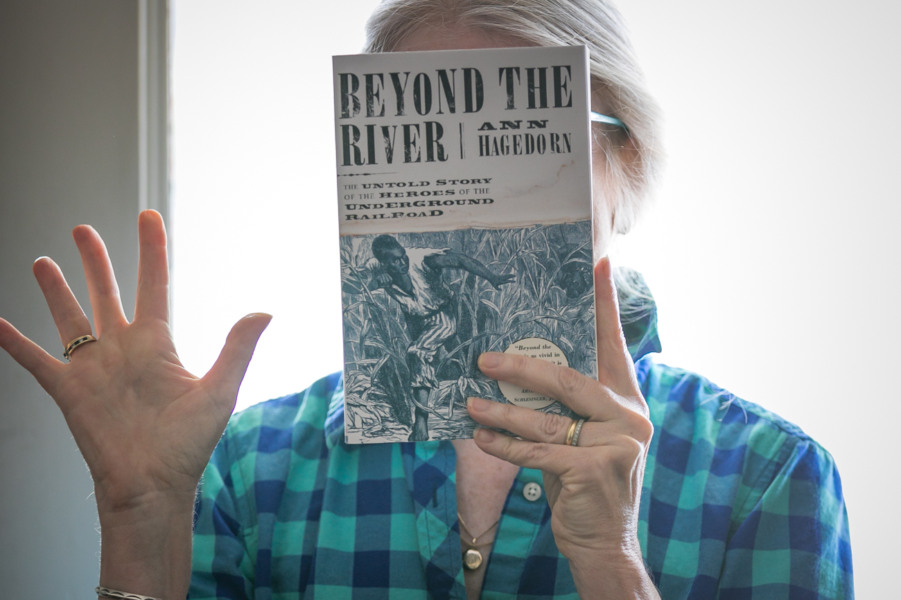 Want to learn more about Ripley and Underground Railroad before your visit? Pick up a copy of Pulitzer Prize-nominated author Ann Hagedorn's book, Beyond the River. The camera-shy Ms. Hagedorn photographed with a copy of her nominated book. / Image: Amy Elisabeth Spasoff // Published: 8.9.18