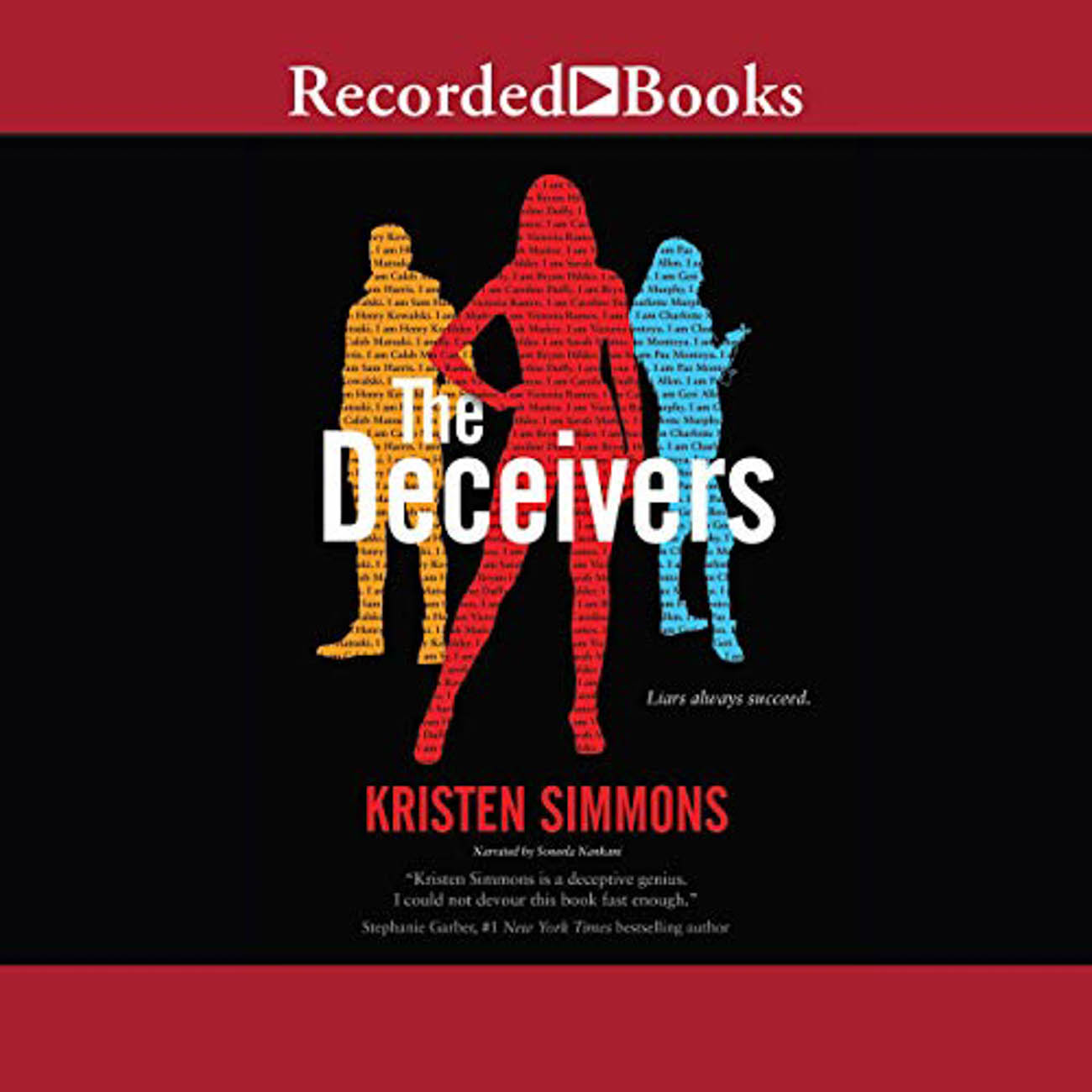 "A recruitment to an elite academy turns out to be a ploy to get Brynn Hilder and her talents in conning to help the school rid the city of corruption in Kristin Simmons', ""The Deceivers."" / Image courtesy of Audible // Published: 3.23.20"