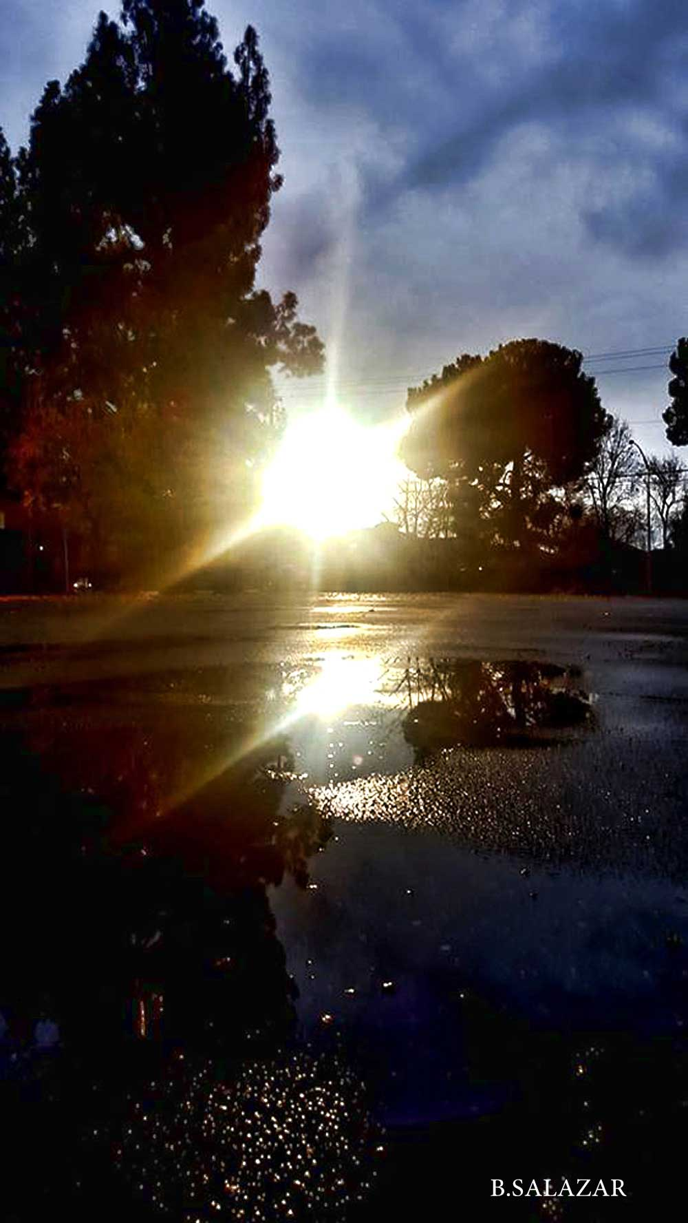 Fresno sunset after the rain by Bebe Salazar 1/4/17