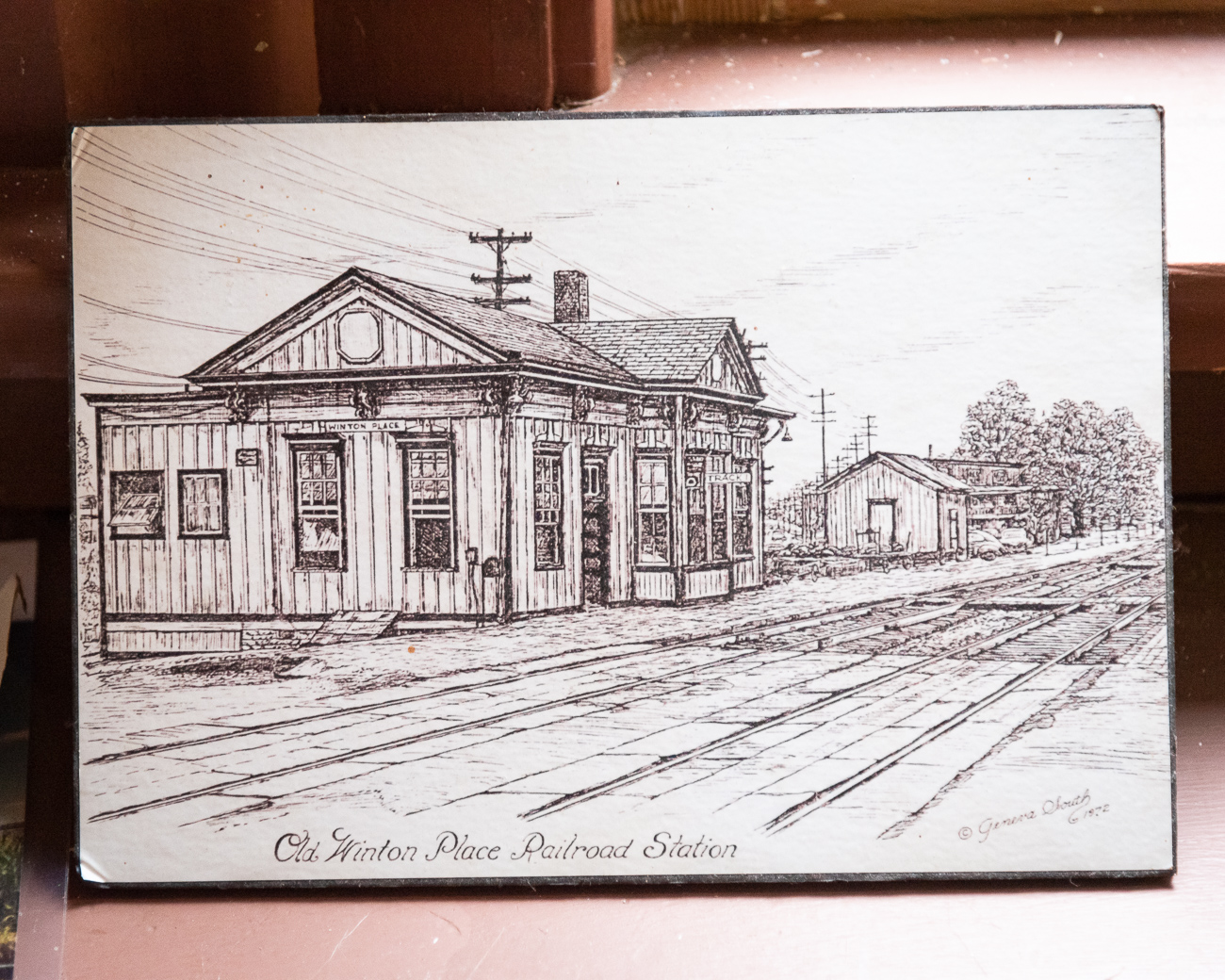 A drawing of Chester Station back when it was along Spring Grove Avenue{ }/ Image: Phil Armstrong, Cincinnati Refined // Published: 12.5.19