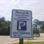 Street signs around Pelham for state champions