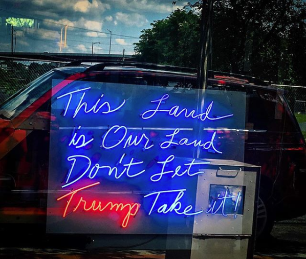 You can't escape politics in D.C., but locals have some creative ways to express their views. (Image via @racheeda_boukezia)<p></p>