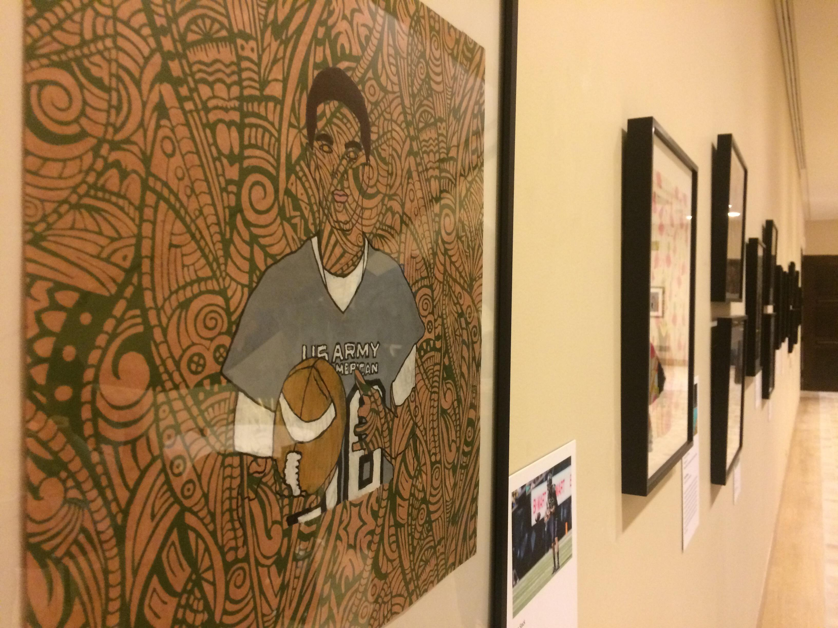 Art of the Athlete exhibit on display at Jordan Schnitzer Museum of Art