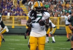 Green Bay Packers running back Eddie Lacy carries the ball during Packers Family Night, July 31, 2016, at Lambeau Field.