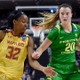 Freshmen lead 10th-seeded Oregon to 77-63 upset of Maryland