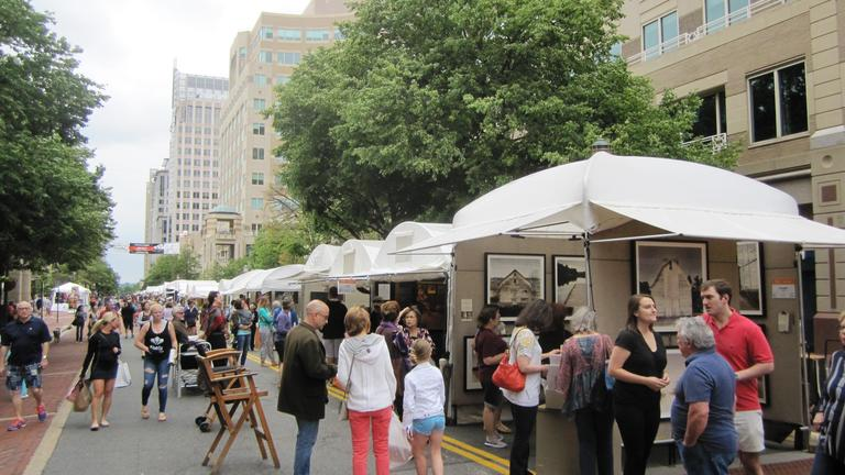 The 27th annual event will present more than 200 artists from across the nation to show and sell their works at Reston Town Center on Saturday May 19 and Sunday May 20. (Image: Courtesy Northern Virginia Fine Arts Festival)