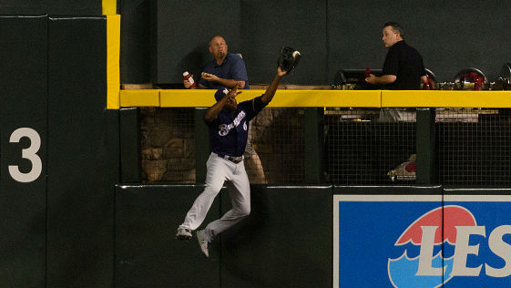 Cain's five home run-robbing catches were the most in the majors since 2004