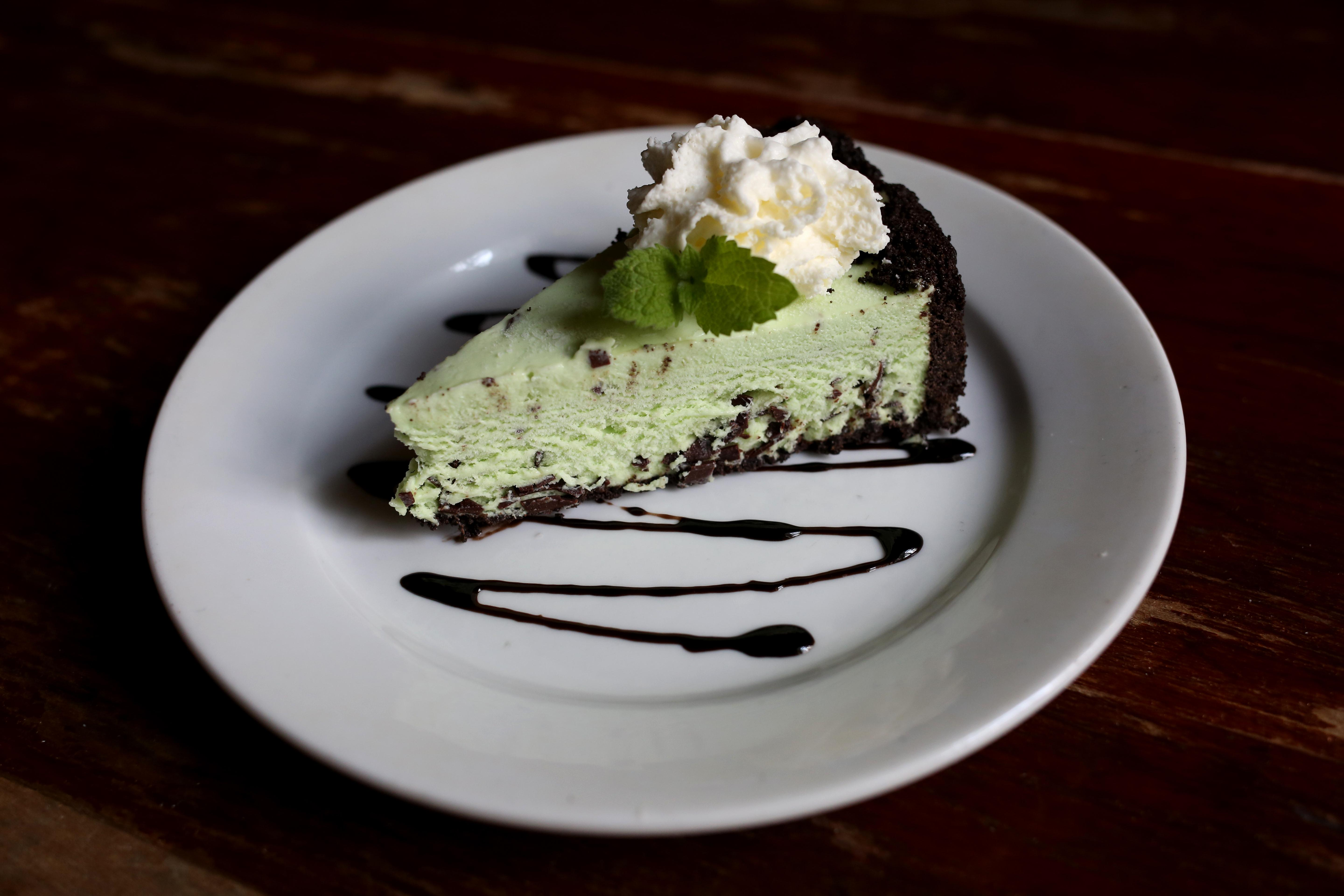 The grasshopper icebox pie is perfectly minty and refreshing, without losing its sweetness.  (Amanda Andrade-Rhoades/DC Refined)