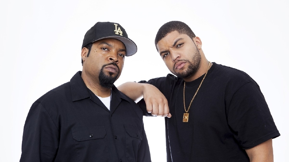 81febbbe27892 2, 2015 photo, Ice Cube left, and son O Shea Jackson Jr. pose for a  portrait in promotion of the new film