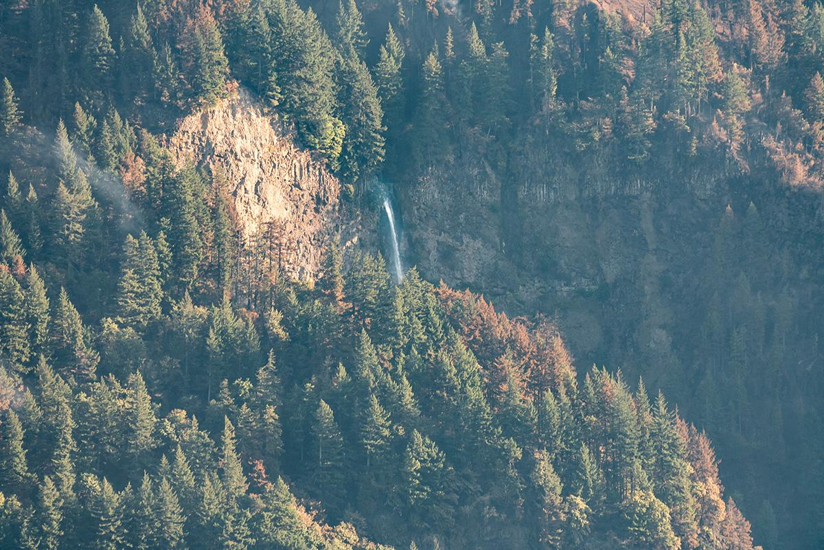 Top of Multnomah Falls - Crews are working to contain the Eagle Creek Fire, a human-caused fire burning thousands of acres in Oregon's Columbia River Gorge and threatening several natural landmarks. (Photo taken by Chris Liedle on September 10, 2017