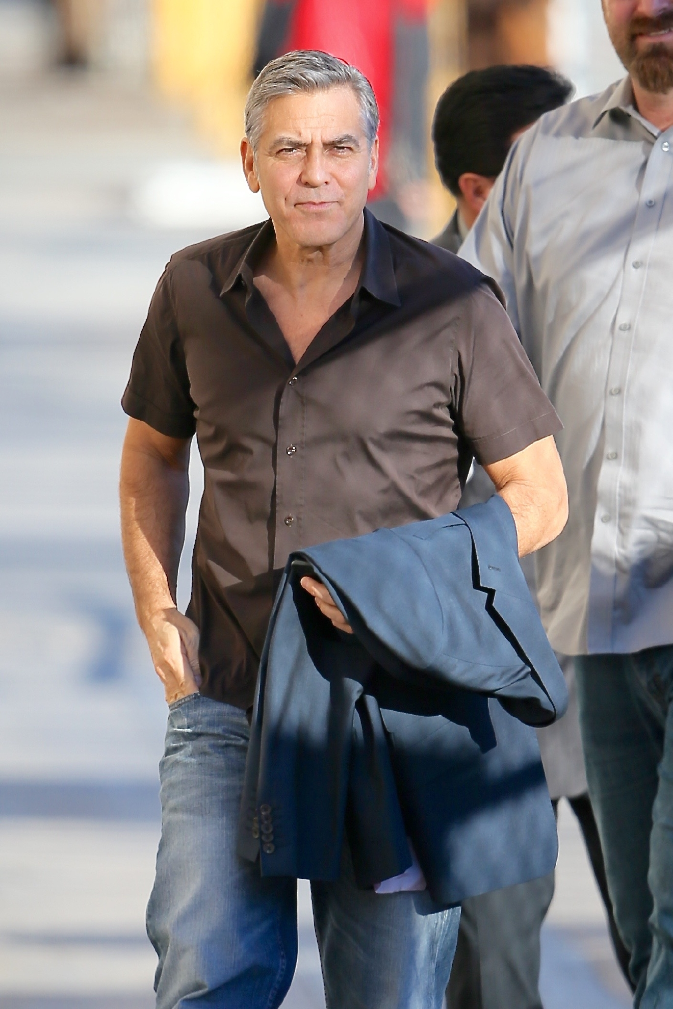 George Clooney seen arriving at the ABC studios for Jimmy Kimmel Live                                    Featuring: George Clooney                  Where: Los Angeles, California, United States                  When: 02 Feb 2016                  Credit: Michael Wright/WENN.com