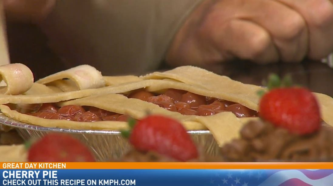 Chef Carolyn Ocheltree making Oregon Red Tart Cherry Pie