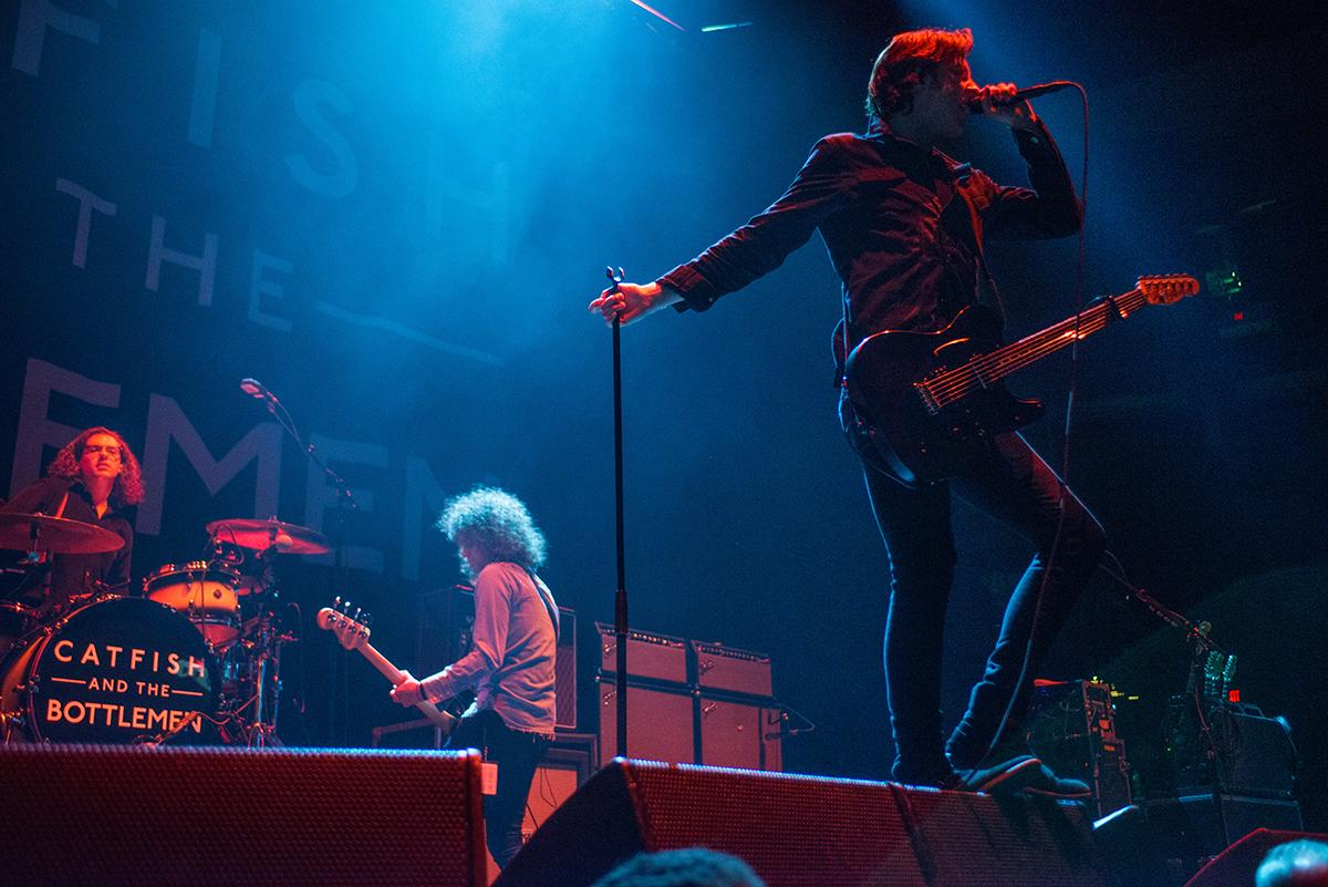 British rockers Catfish and the Bottlemen brought their energetic live show to the Moda Center on Wednesday, opening up the stage for Green Day on the Revolution Radio summer tour. (KATU News photo by Tristan Fortsch taken August 2, 2017)