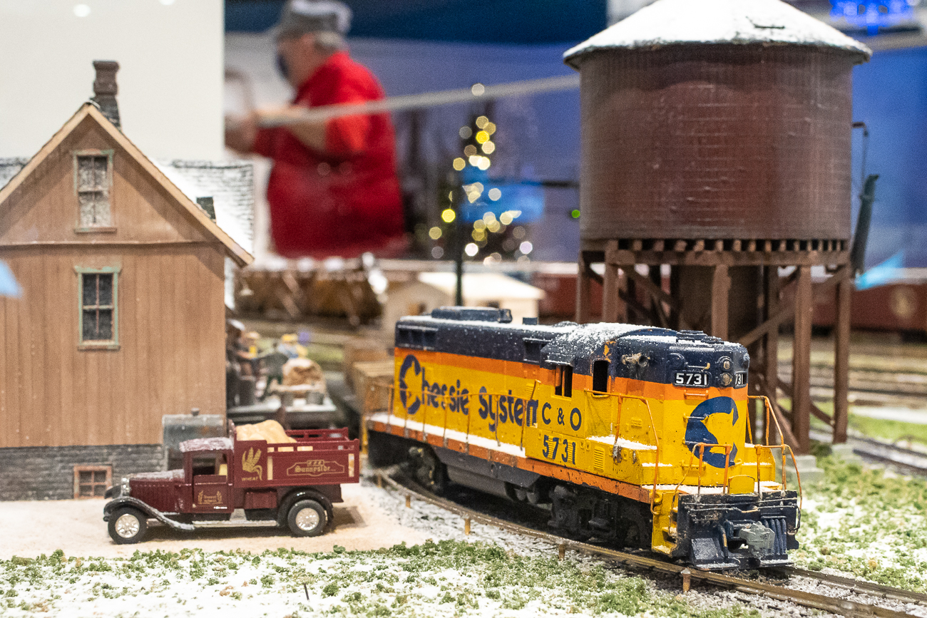 The Duke Energy Holiday Trains are currently on display at the Cincinnati Museum Center for 2020. The trains have been a Cincinnati tradition since 1946. Millions of people have enjoyed the trains since their debut in Cincinnati over the last 74 years. The display is one of the largest portable models in the world and features 300 miniature rail cars, 60 engines, and 1,000 feet of track. / Image: Phil Armstrong, Cincinnati Refined // Published: 11.15.20