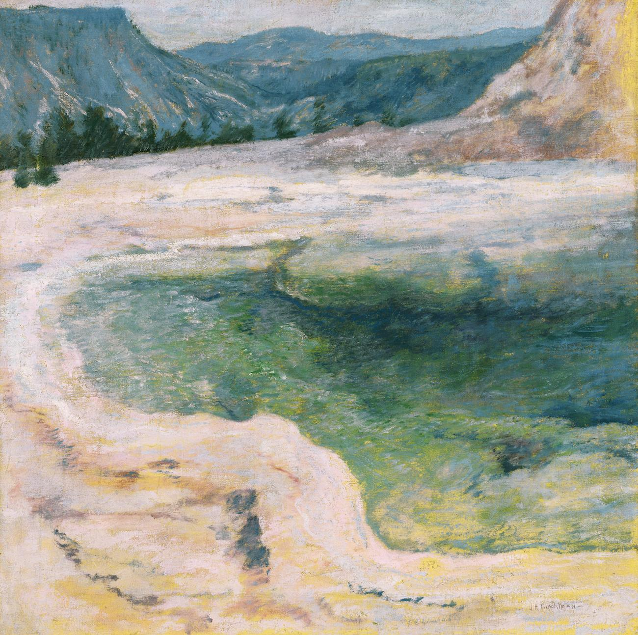 'The Emerald Pool' (ca. 1895) by John Henry Twachtman / Image courtesy of the Taft Museum of Art // Published: 5.1.19