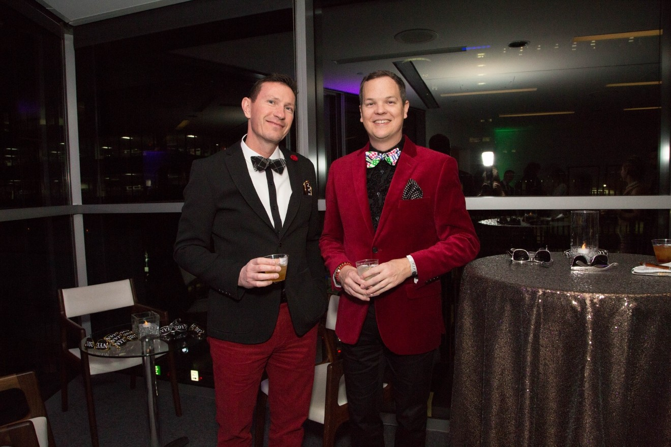 "People: Neil Hoover and Shawn Scott / Event: ""Night At The Museum,"" NYE at CAC (12.31.16) / Image: Catherine Viox"