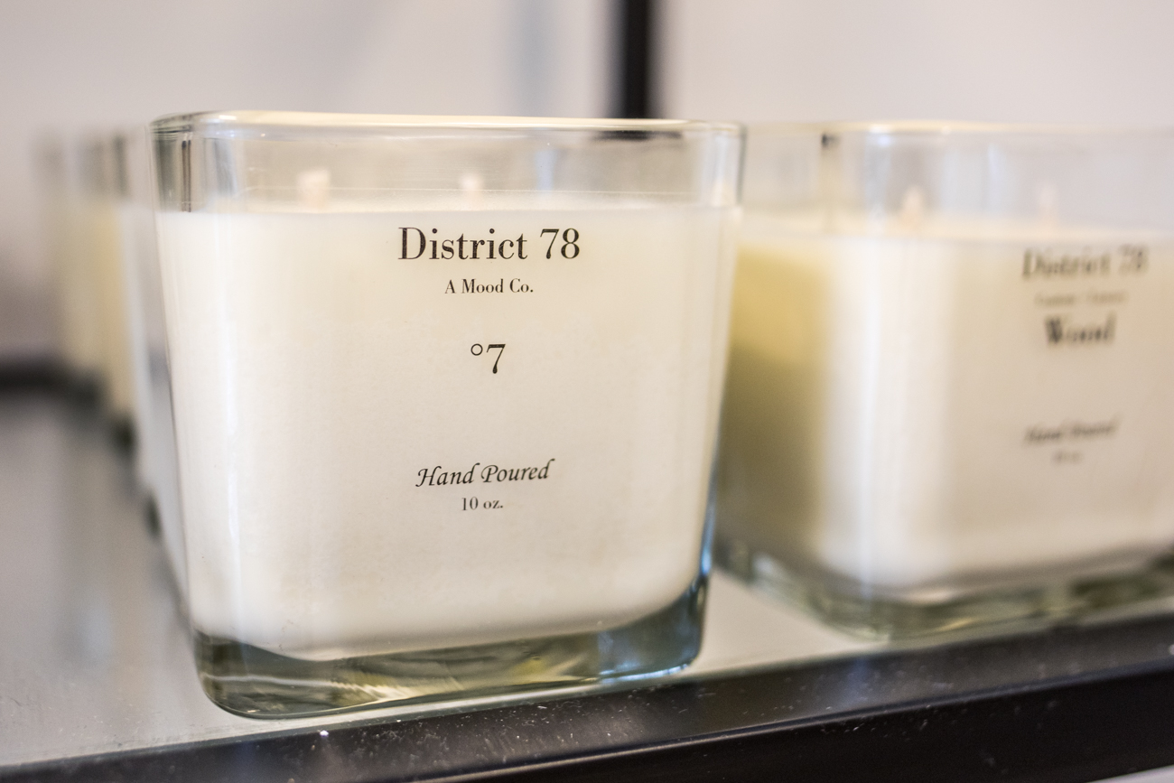 District 78, owned by Erika Gray, sells candles, plants, and more. / Image: Catherine Viox // Published: 8.4.20