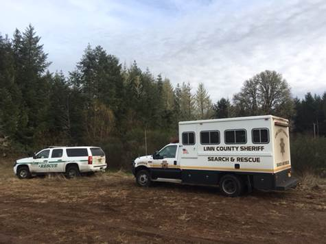 <p>Search and rescue crews scourted a previously inaccessible stand of private timber north of town in the search for a man reported missing in April 2017. Daniel Oberg's vehicle was found abandoned in the Marcola area. The new search area is heavily wooded and only became accessible this fall. On Saturday, 29 volunteers and staff from the Lane and Linn county sheriff's offices combed the area looking for clues with the help of K9 teams. The search continued Sunday. (LCSO)</p>