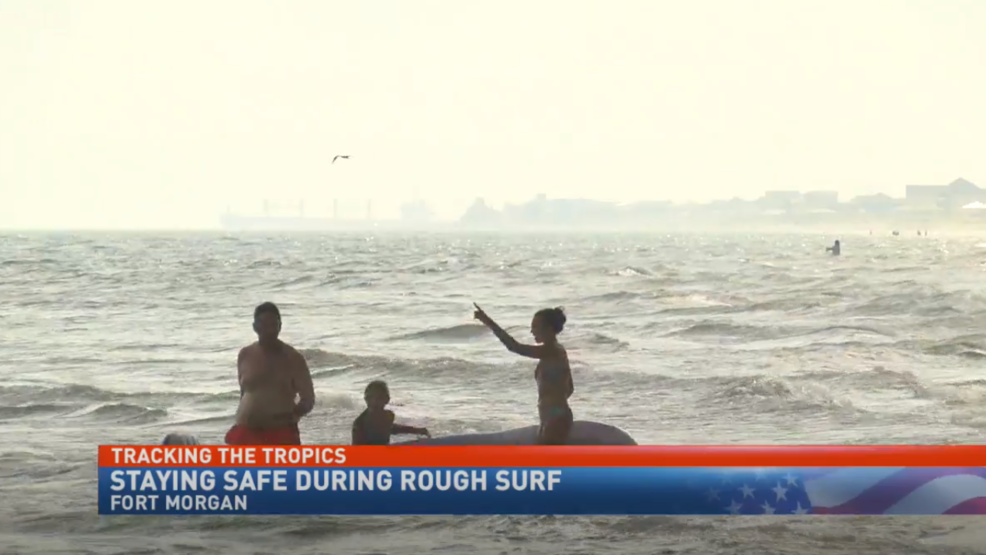(WPMI) Fort Morgan beach safety crews preparing for storm impact, dangerous surf conditions