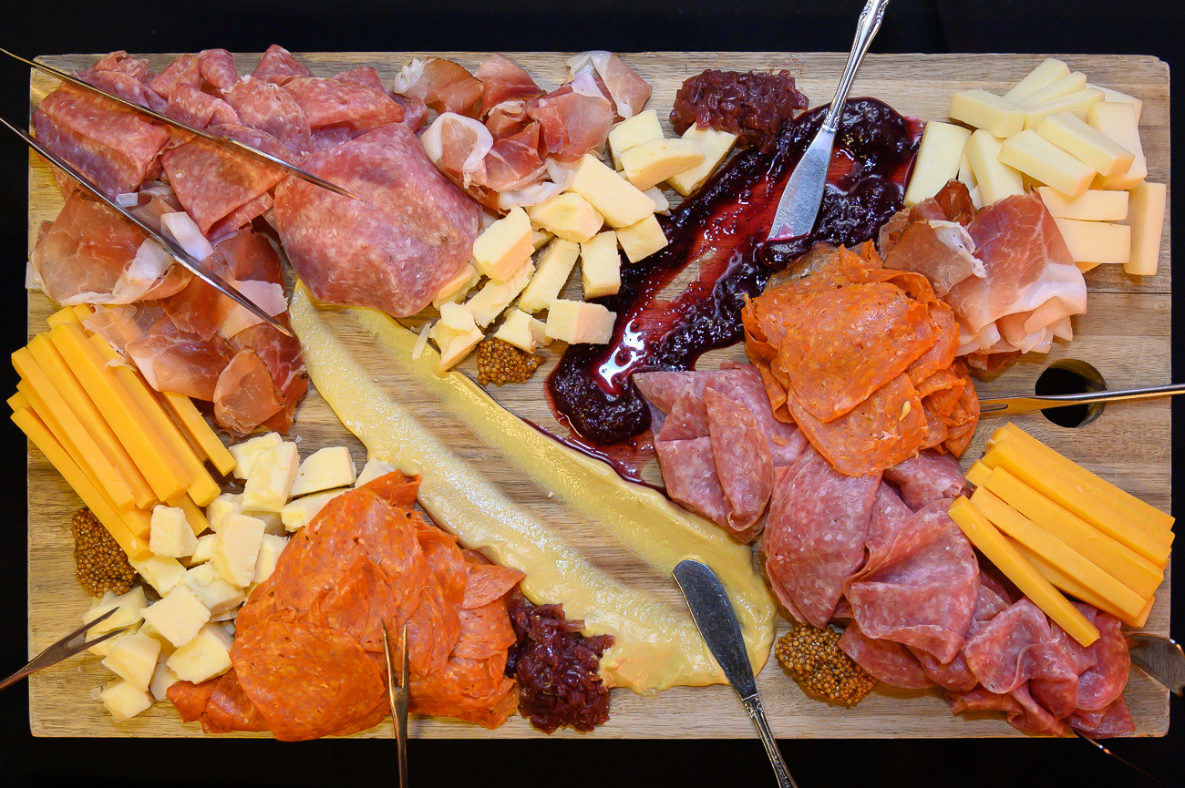 The Phoenix provided a charcuterie board at the first Bourbon & Bites table. / Image: Phil Armstrong, Cincinnati Refined // Published: 1.24.20