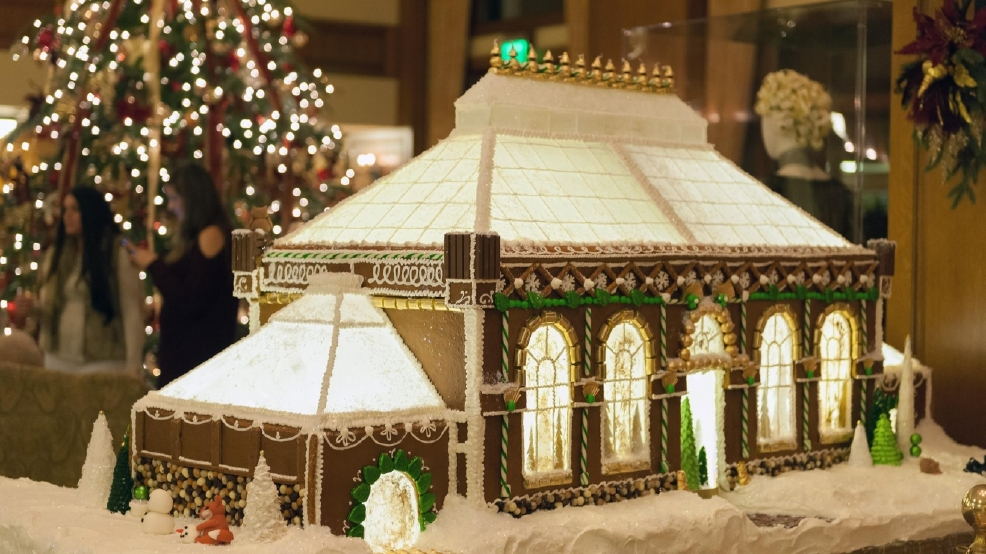 biltmore family works together to create christmas village