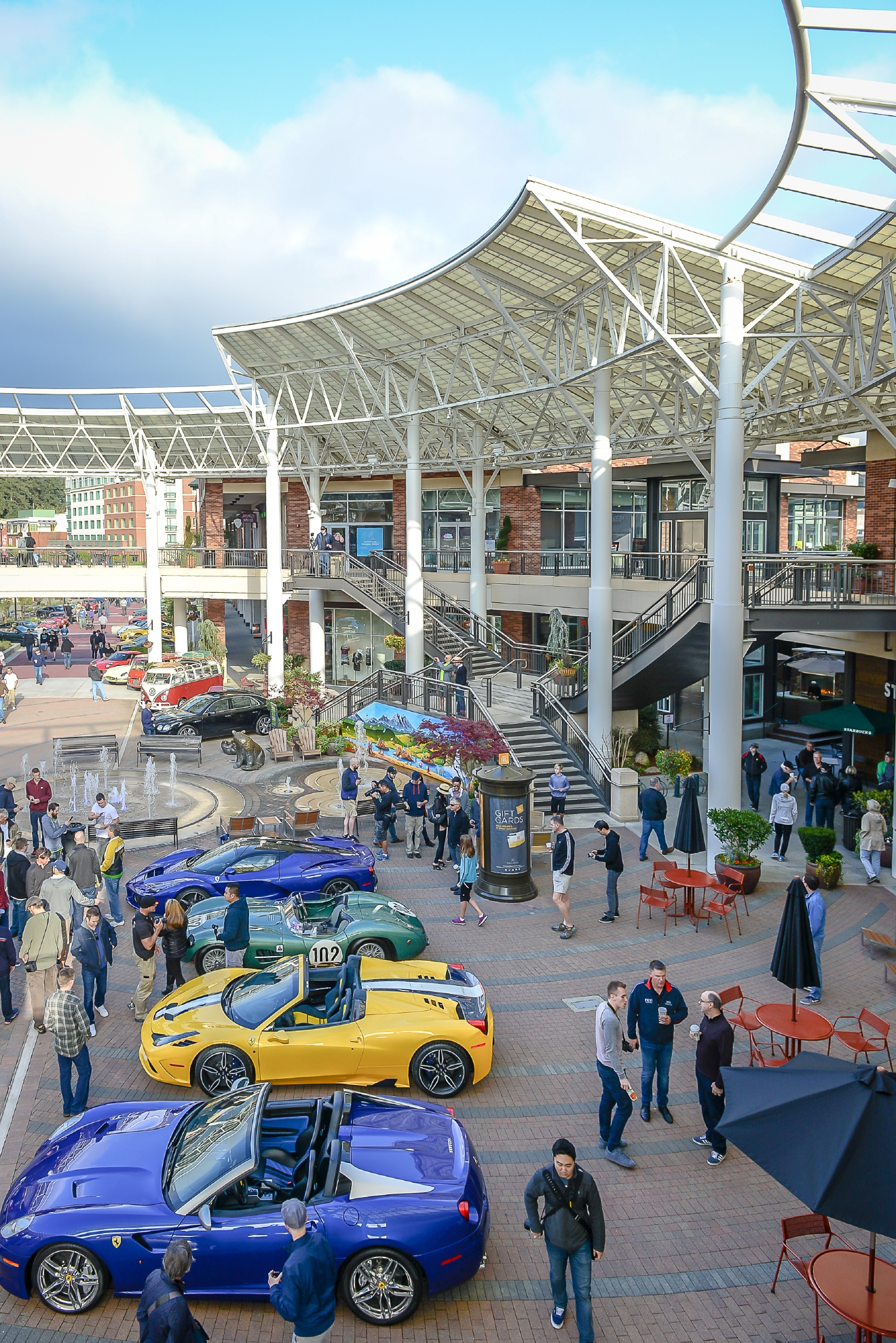Redmond Town Center hosts a variety of events including exotic car shows.