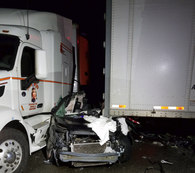 Pendleton woman dies from injuries in 20-vehicle pileup