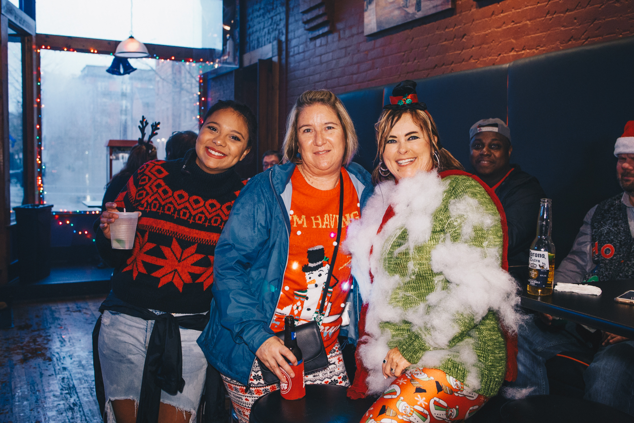 Monique and Monica Burns, Katrina Collom at Mr. Pitiful's / Image: Catherine Viox // Published: 12.2.18<br>