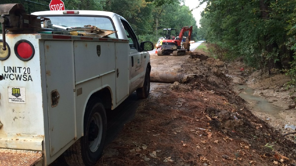 Major' water main break affects customers in Rossville Thursday   WTVC