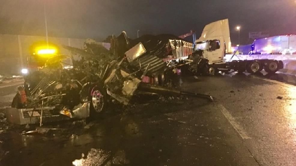 Bad Semi Crash Shuts down I-65 South overnight   WZTV