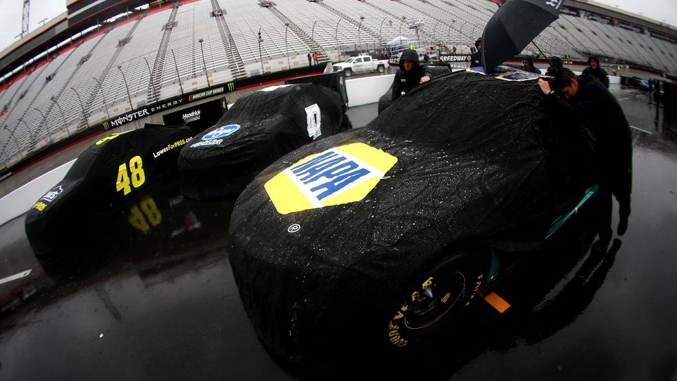 Rain washes out Food City 500 before halfway; Resume at 1p Monday   WCYB
