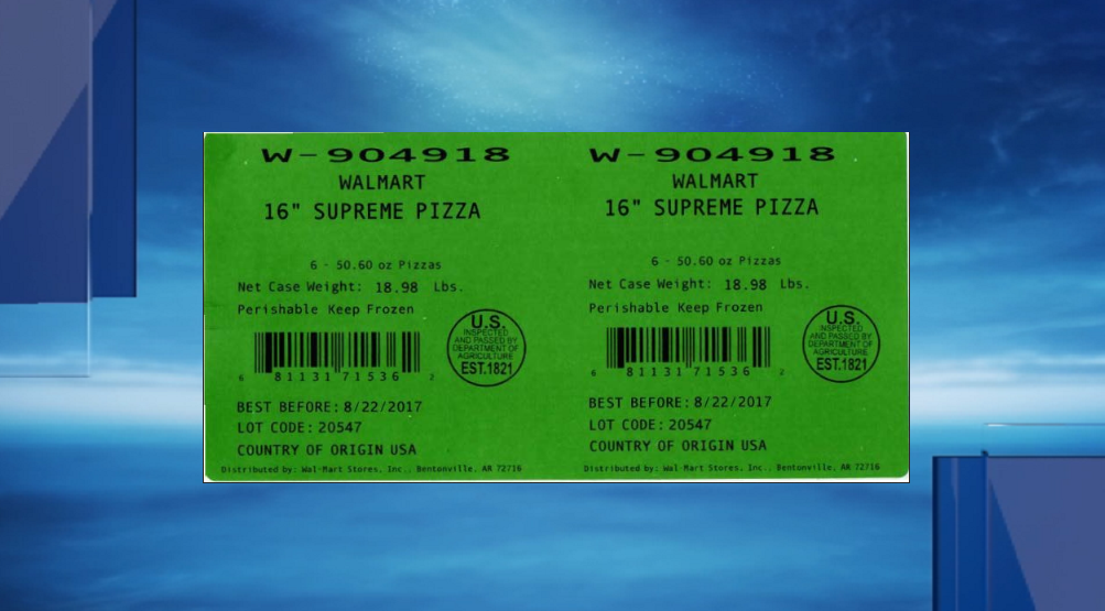 Marketside Supreme Frozen Pizza label (usda.gov)