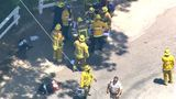 4 injured as helicopter crash-lands on Los Angeles street