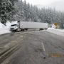 Semi hauling ice cream crashes on slush-covered Oregon highway