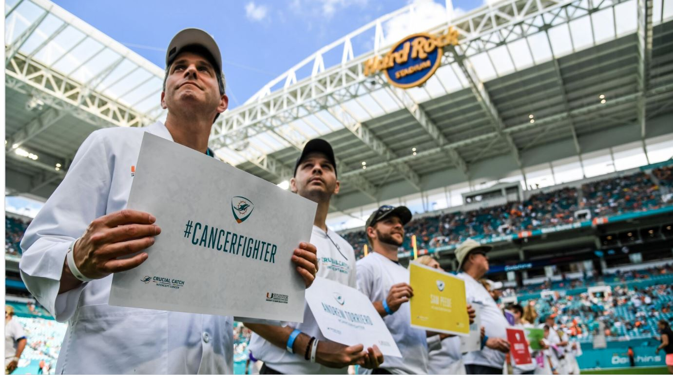 Dolphins Cancer Challenge honors #CancerFighters. (Miami Dolphins){&amp;nbsp;}<p></p>