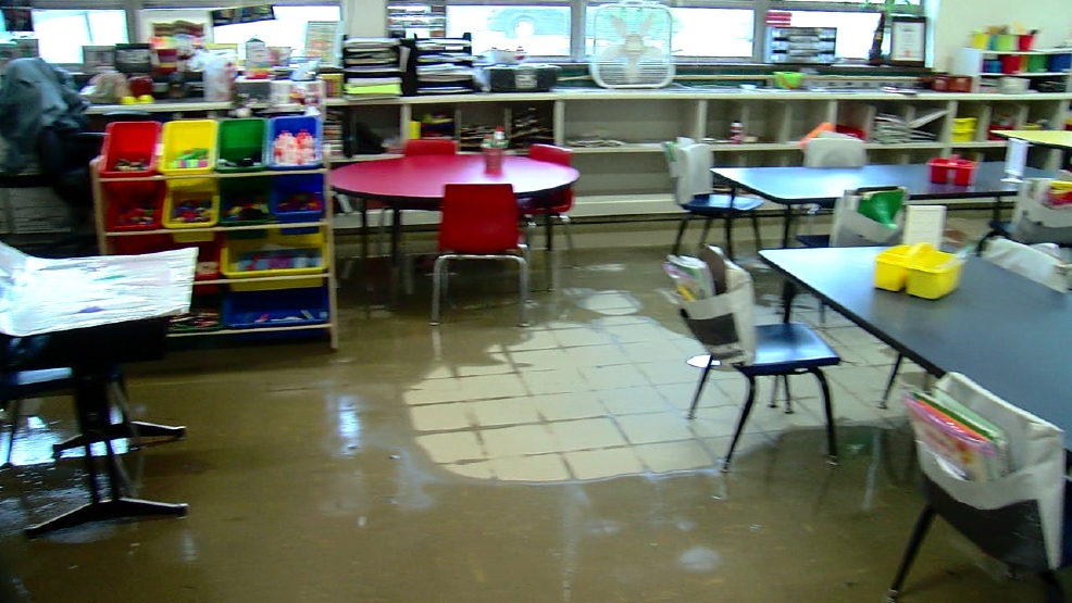 Local Schools Damaged By Flooding From Severe Weather