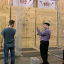 GMC crew channels inner lumberjack at Cincinnati Axe Throwing