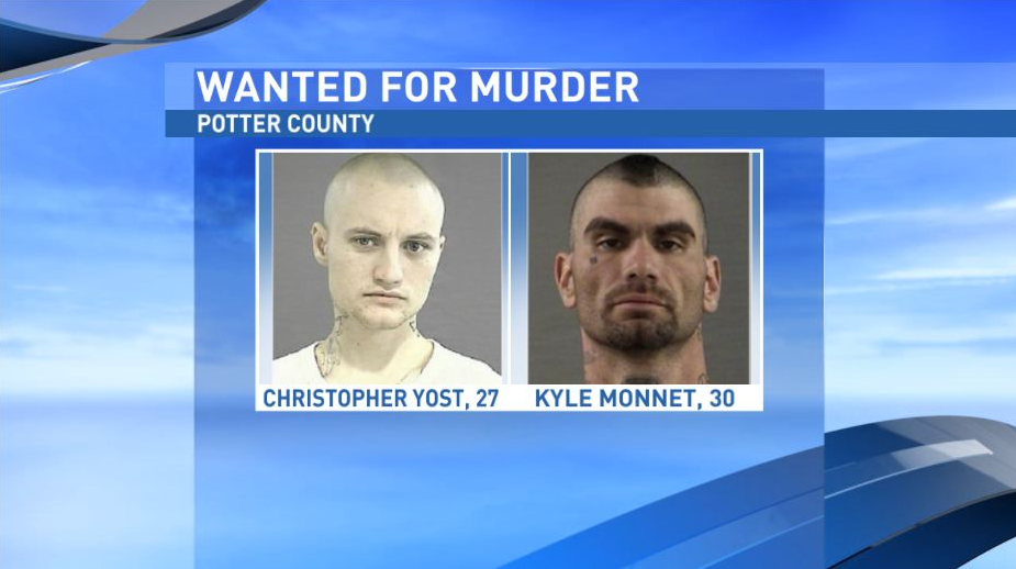 Christopher Yost, 27,{&amp;nbsp;} and Kyle Monnet, 30, both have warrants for Murder out of Potter County in connection to the Dec. 10 murder of Joshua Daniels. (Photos: Amarillo Police Department)<p></p>
