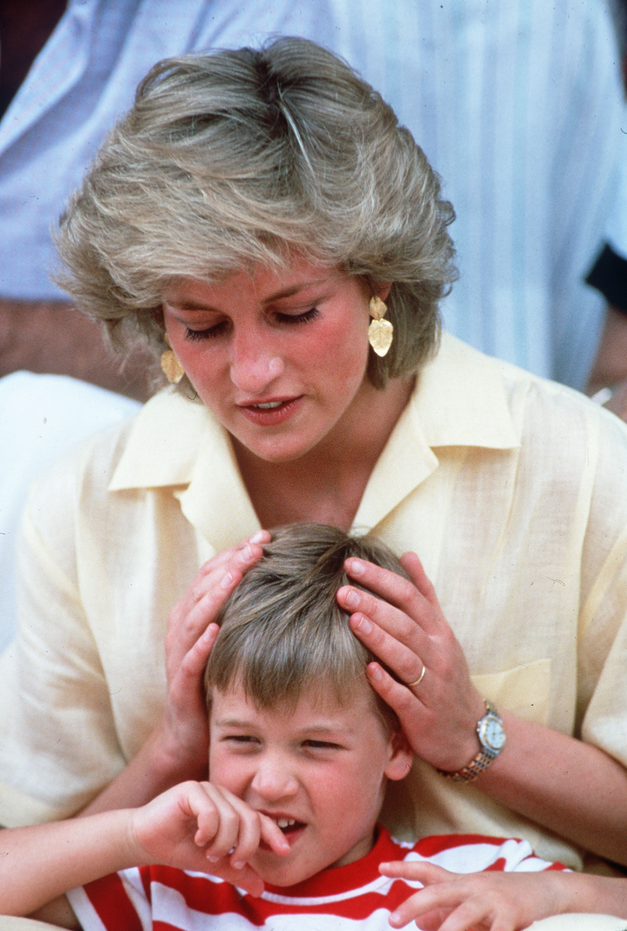 File Photo*** Diana, Princess of Wales poses with Prince William during a summer holiday in Majorca Majorca - 10.08.97 ,  Featuring: ***File Photo*** When: 31 Oct 2010 Credit: WENN  **Not available for publication in France**