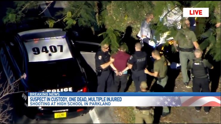 Suspect Nikolas Cruz was taken into custody about an hour after the shooting. (WPEC)<p></p>