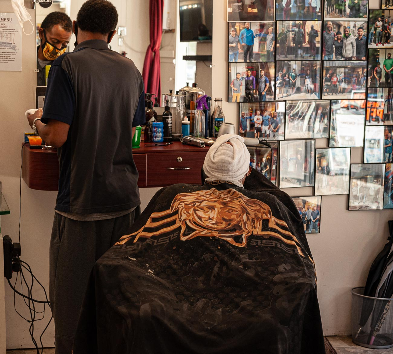 "The barbershop is also known for being active in the community. They've participated in ""Books & Barbers""—a fantastic program that encourages young clientele to read more. / Image: Kellie Coleman // Published: 7.29.20"