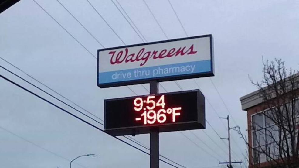 Signs of winter: 196 degrees below zero in the Puget Sound region?!?