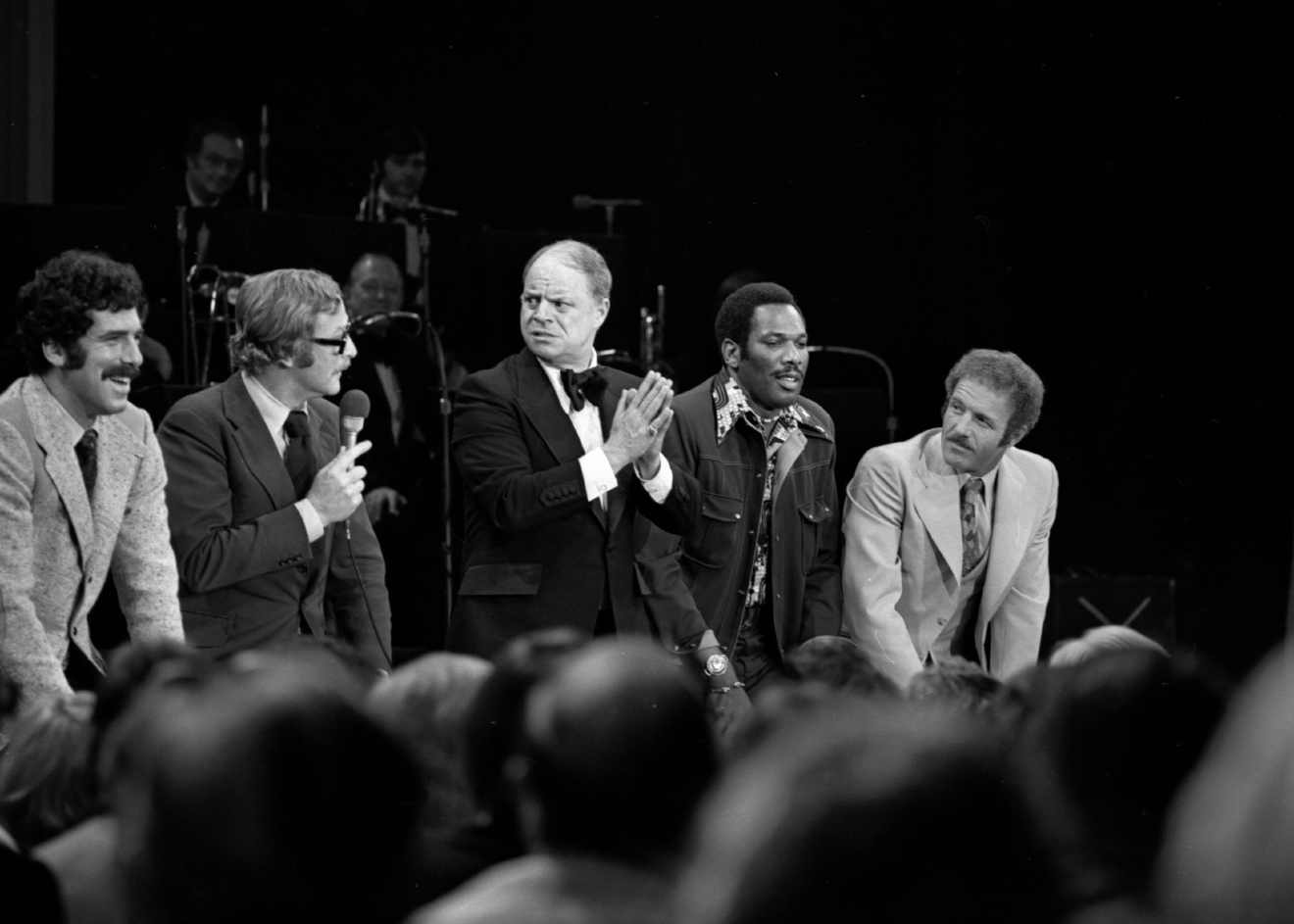 Don Rickles tapes a TV program at Caesars Palace on Nov. 1, 1975. [Las Vegas News Bureau file photo]